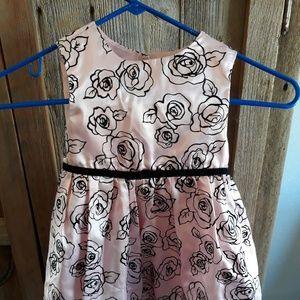 Pink Satin Girl Dress